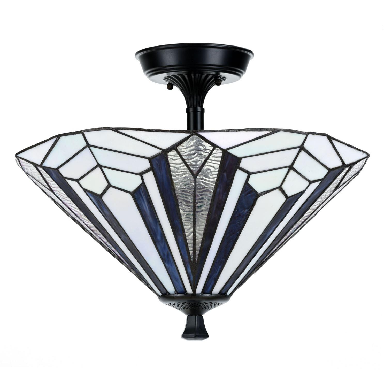 French Art Deco Tiffany Deckenleuchte