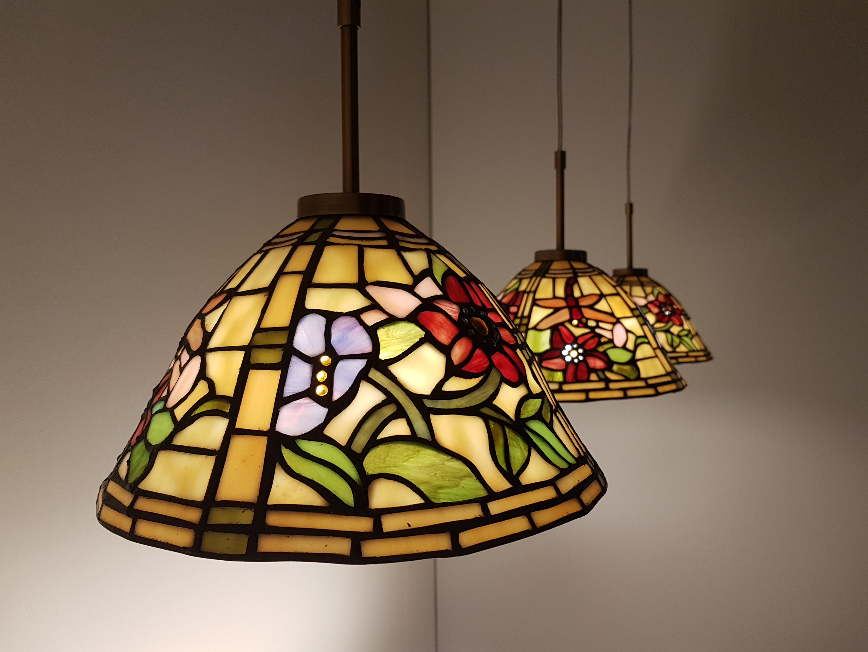 Tiffany Lampen Amsterdam : Tiffany pendelleuchte alabama triple tiffany lampe kaufen