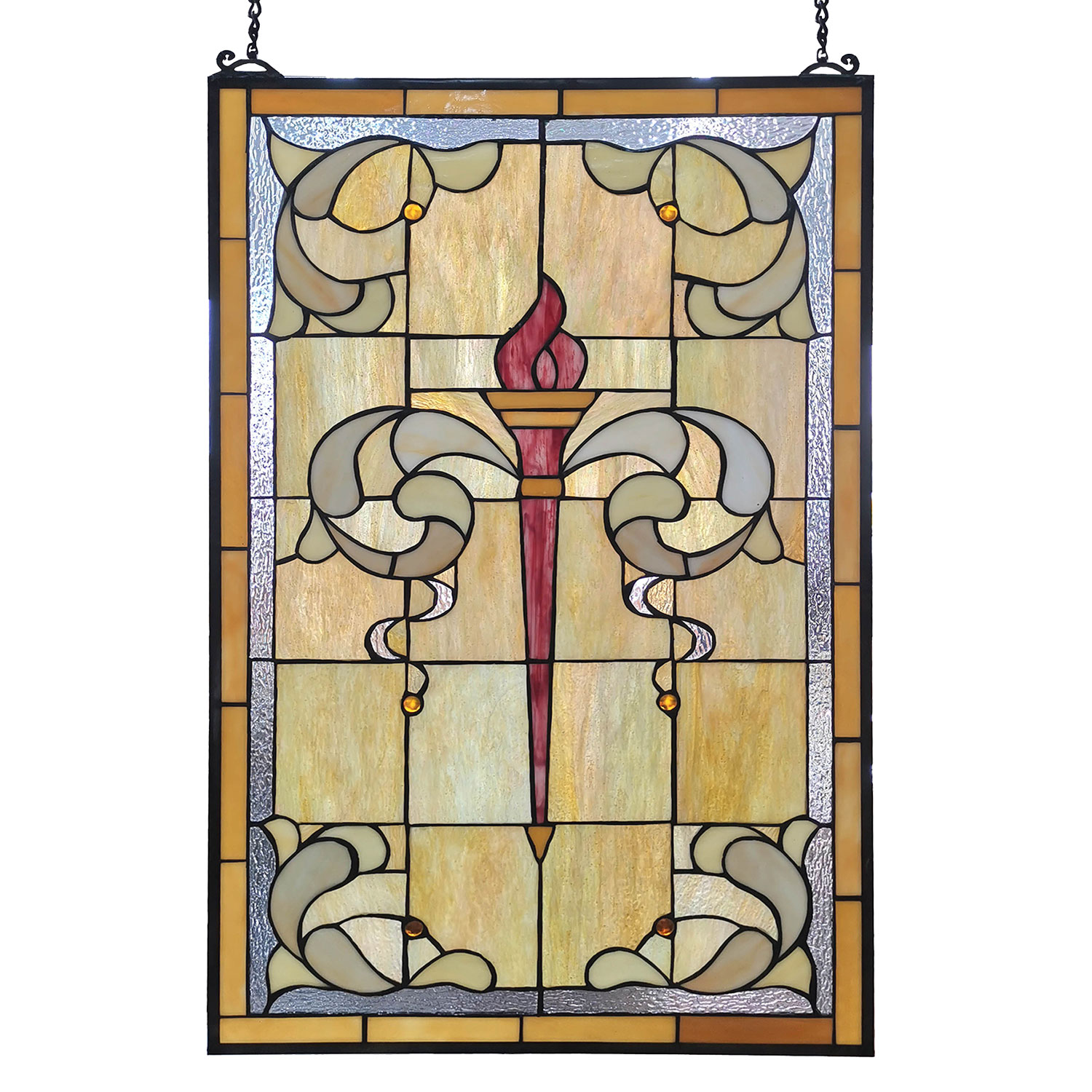 Tiffany Glass Fenster Fackel