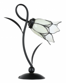 Tiffany Tischlampe Lovely Flower White Romantic