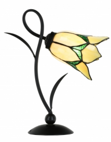 Tiffany Tischlampe Lovely Flower Yellow Romantic